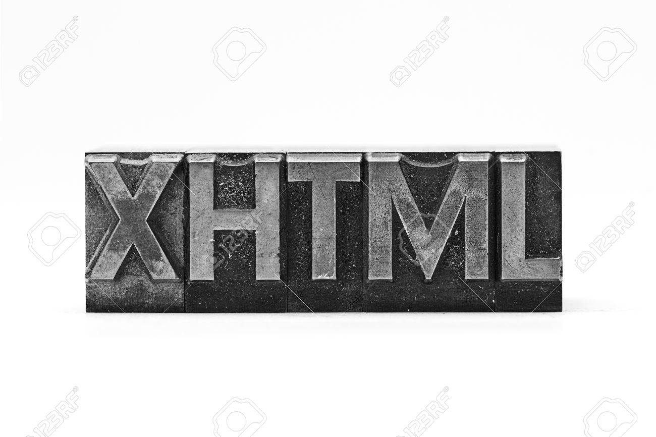 Background image xhtml - Stock Photo Lead Letter Word Xhtml On White Background