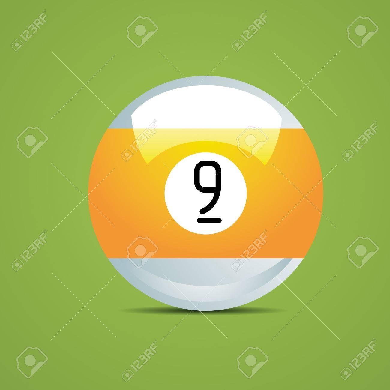Billard Neuf numéro moitié boule de billard neuf jeu 9 sport loisir queue de