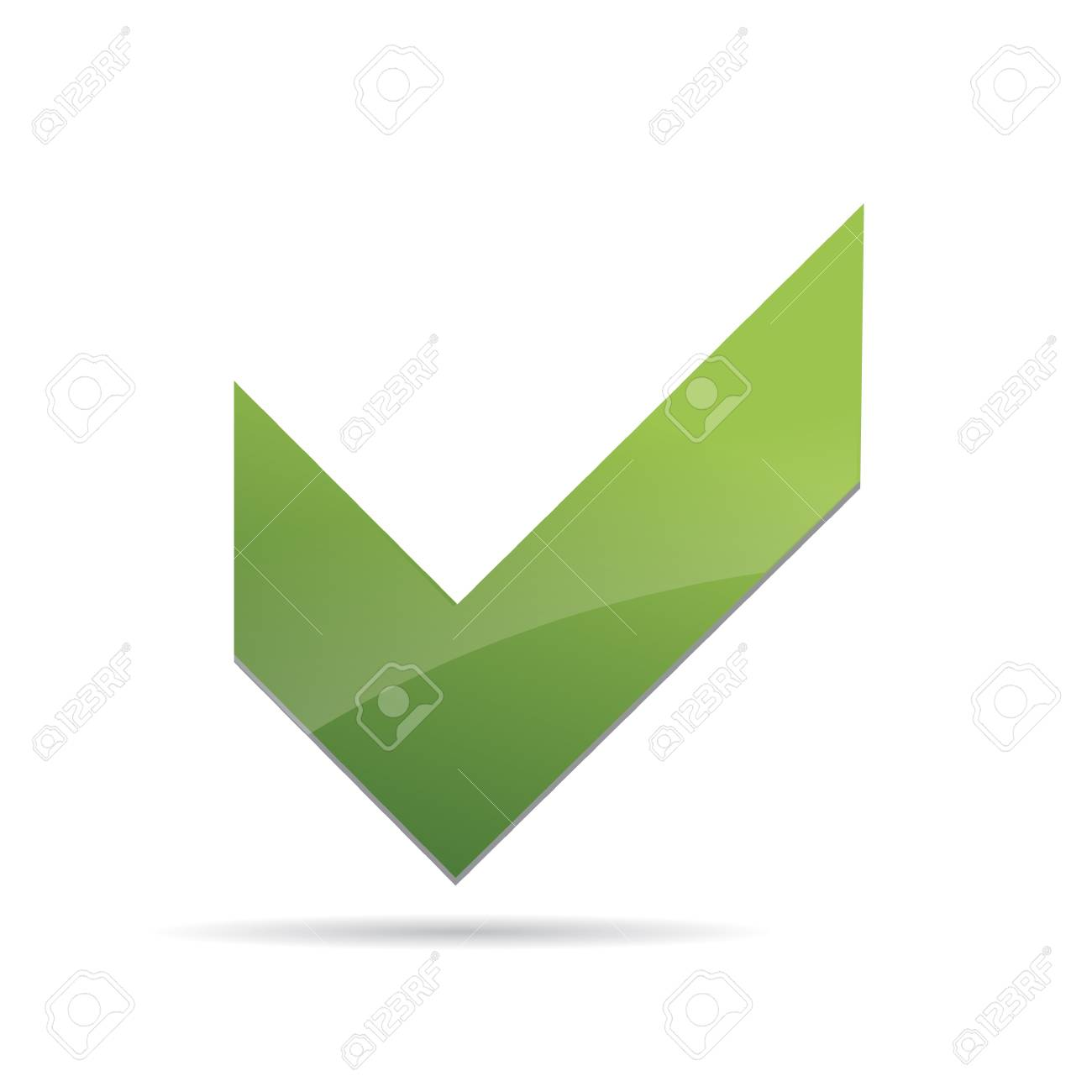 Vector Green  X check haken sign icon Stock Vector - 12410359