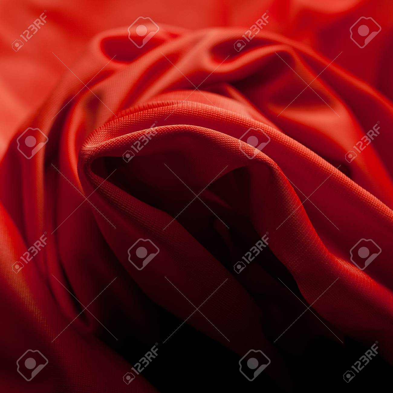Red silk cloth with fold litter Stock Photo - 12541970
