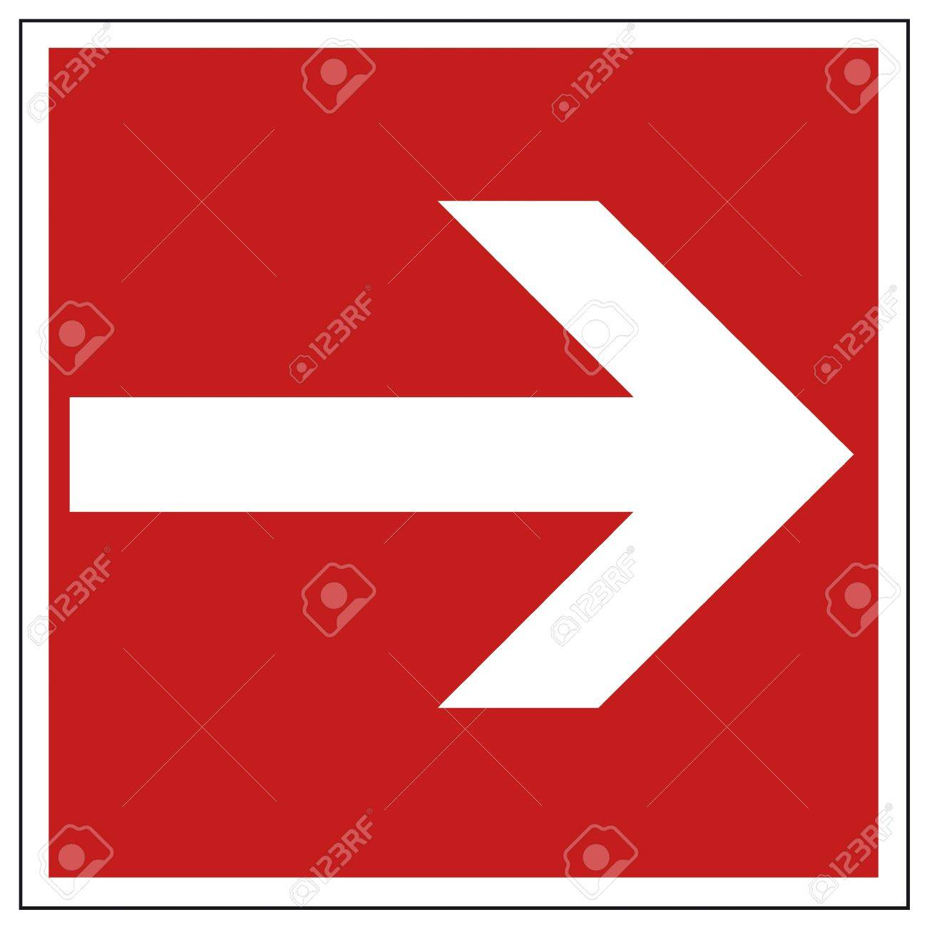 Fire safety sign arrow warning sign Stock Vector - 14312817