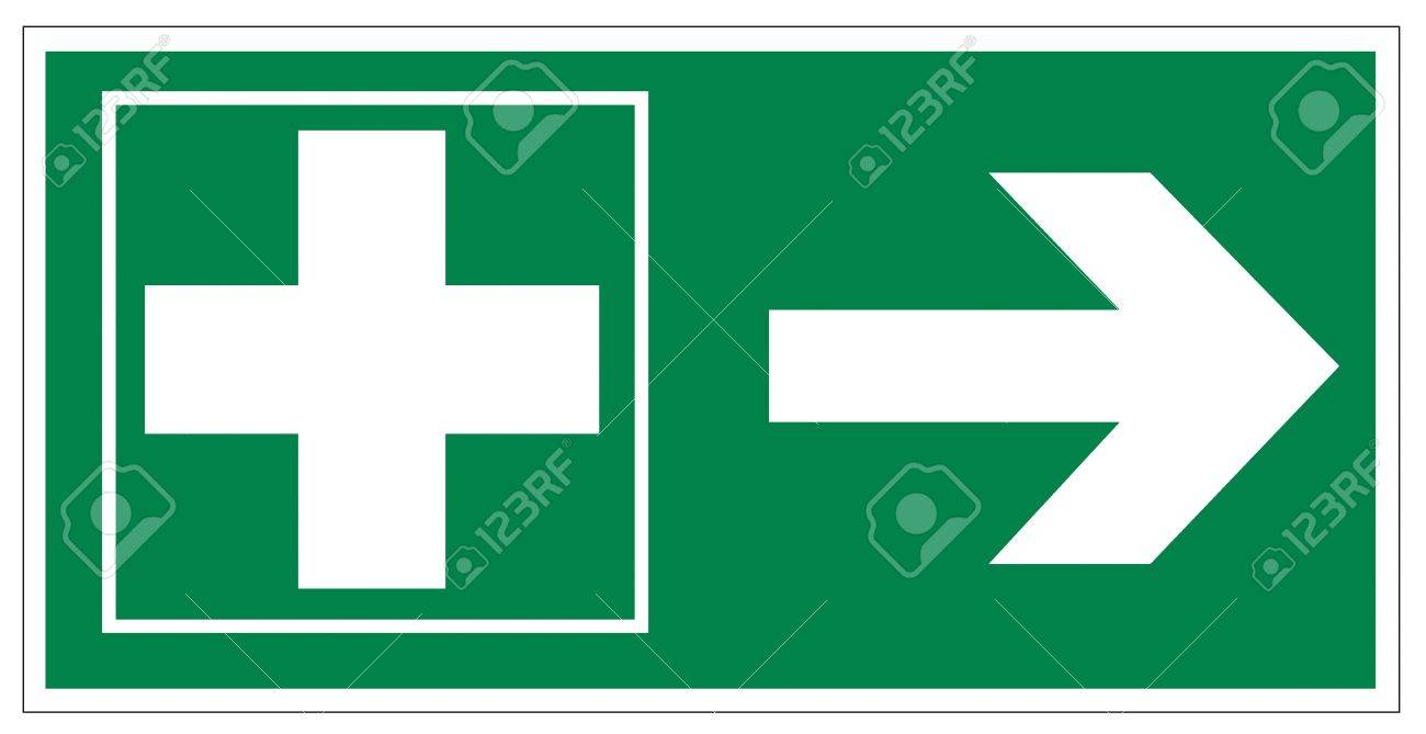 Rescue signs icon exit emergency first aid kit Stock Vector - 14376932