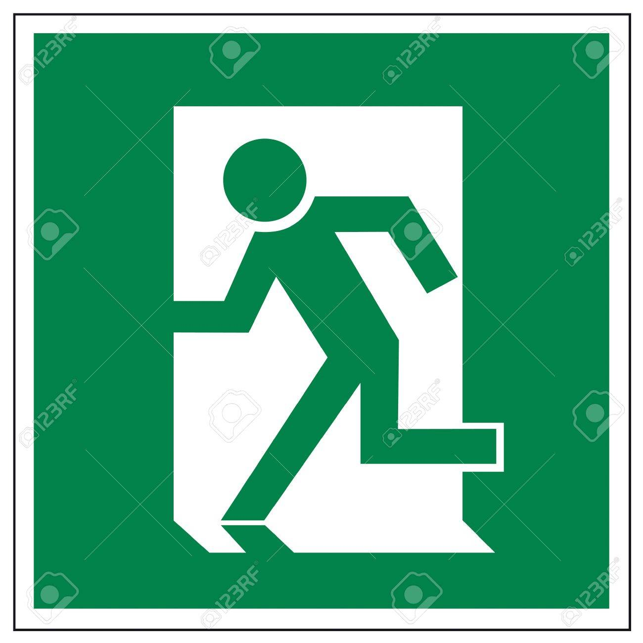 Emergency stop icon clipart emergency off - Emergency Exit Rescue Signs Icon Exit Emergency Arrow Flush Away