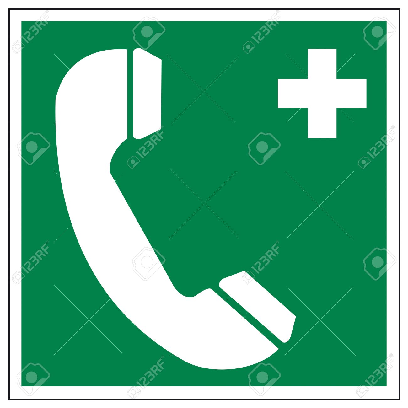 Rescue signs icon exit emergency ladder rescue phone Stock Vector - 14376905