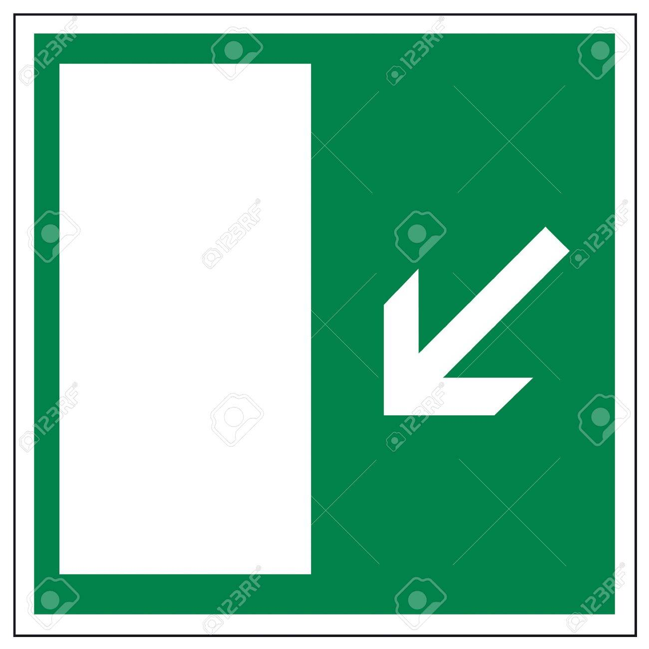 Rescue signs icon exit emergency arrow flush away Stock Vector - 14376908