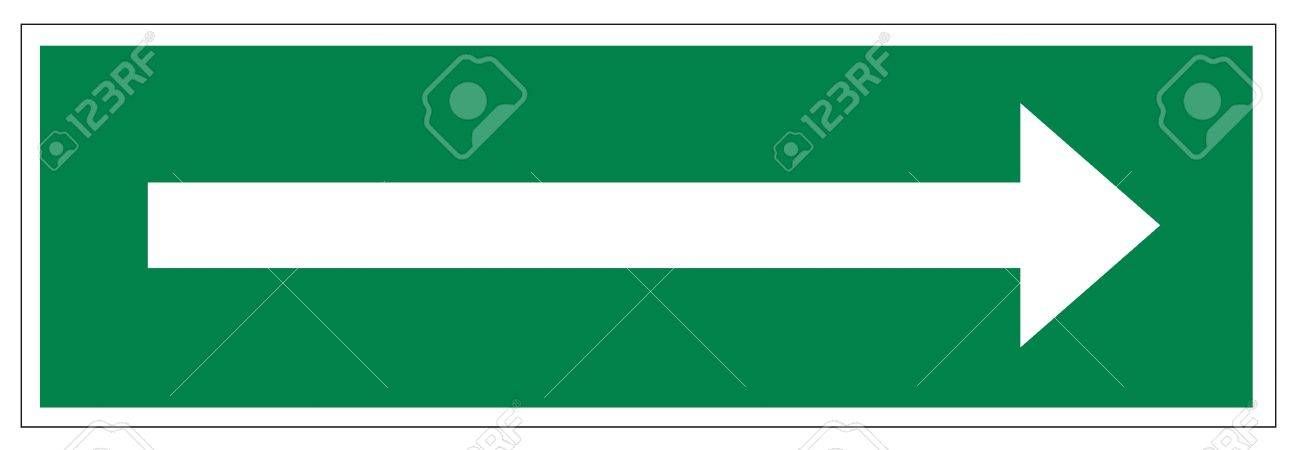 Rescue signs icon exit emergency arrow flush away Stock Vector - 14376872