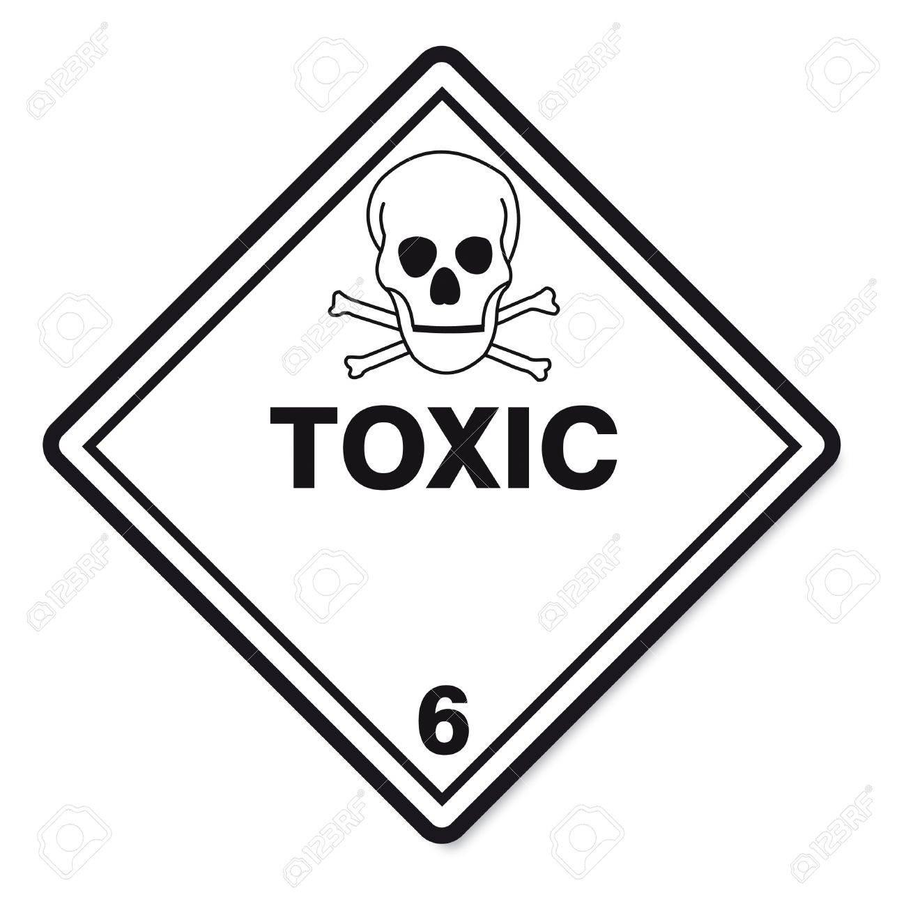 Hazardous Substances Signs Icon Flammable Skull Radioactive Hazard ...