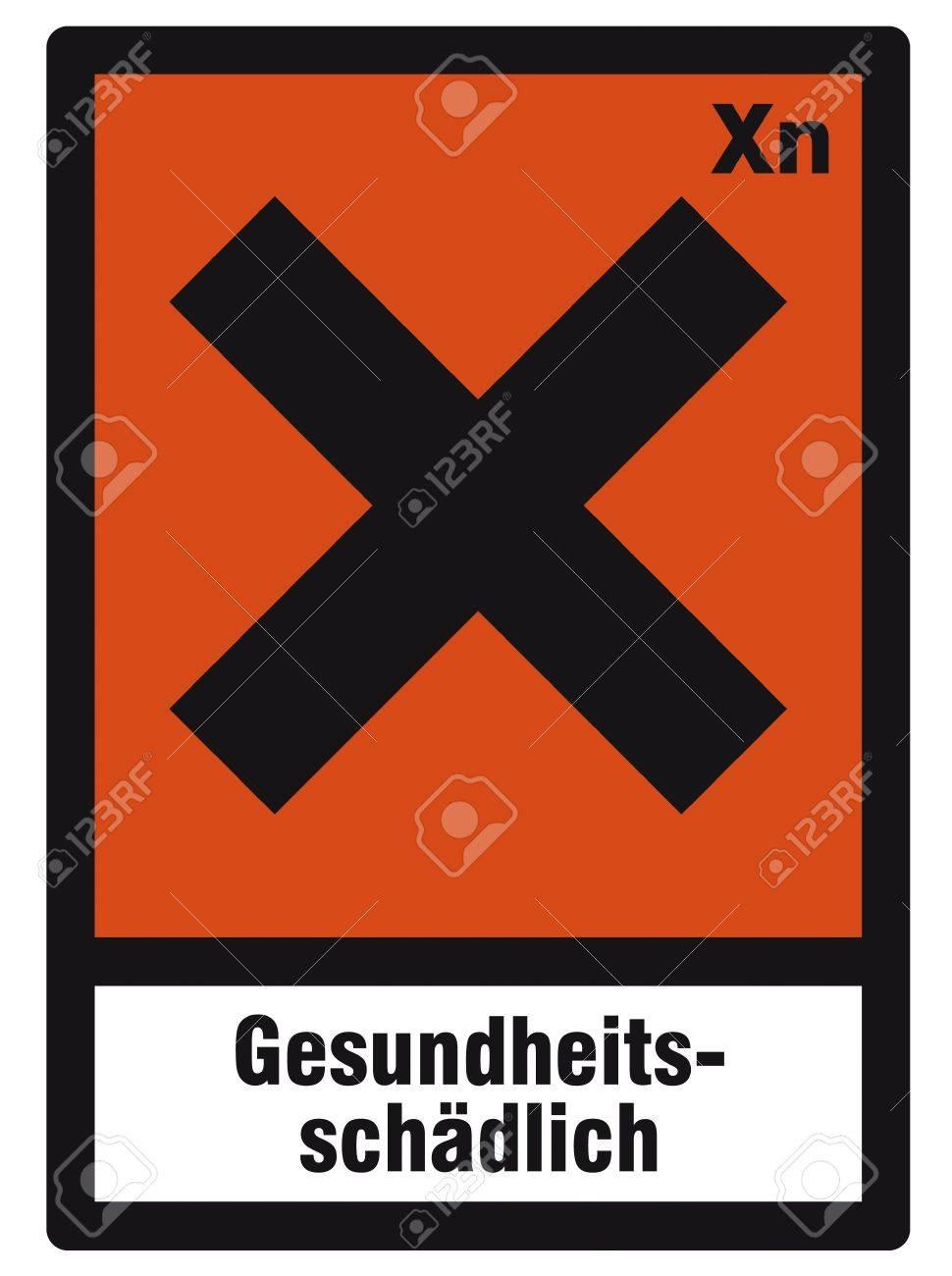 Santé et sécurité autocollant danger toxique nuisible autocollant orange