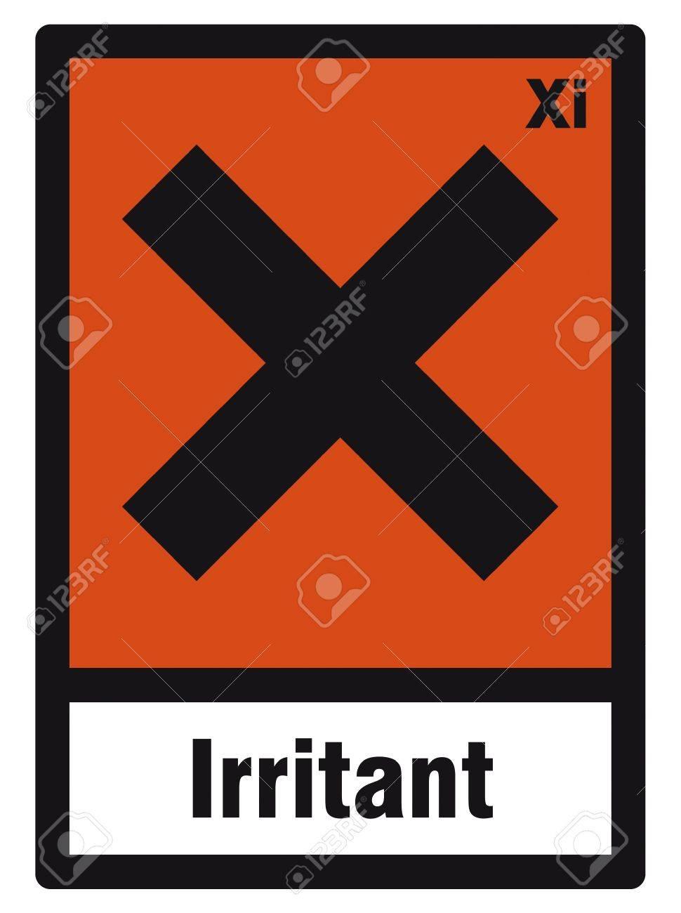 safety sign danger sign hazardous chemical chemistry irritant Stock Vector - 14377072