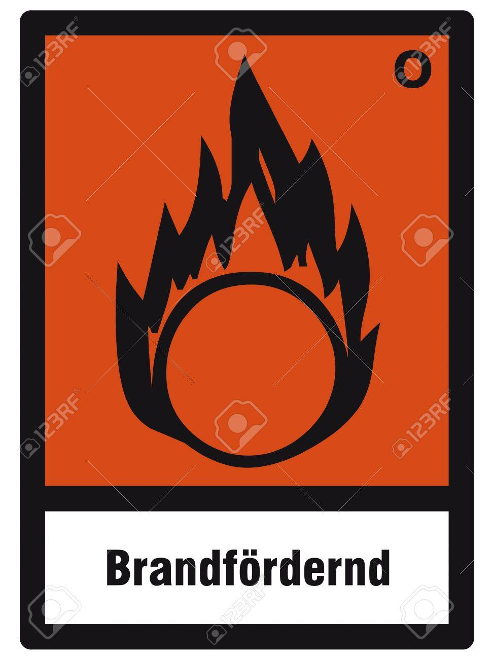safety sign danger sign hazardous chemical chemistry Oxidizing Stock Vector - 14377086