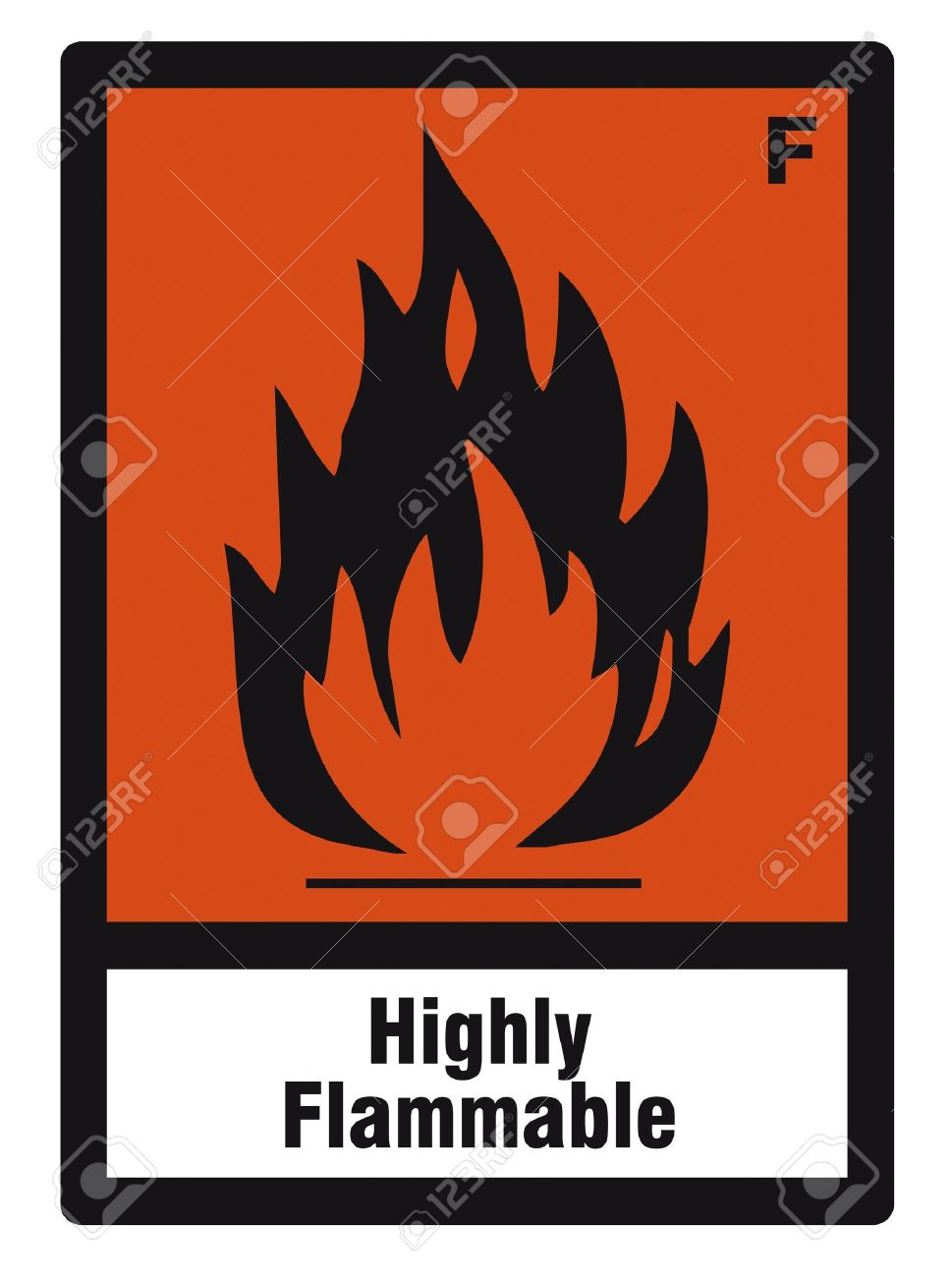 safety sign danger sign hazardous chemical chemistry highly flammable Stock Vector - 14377073
