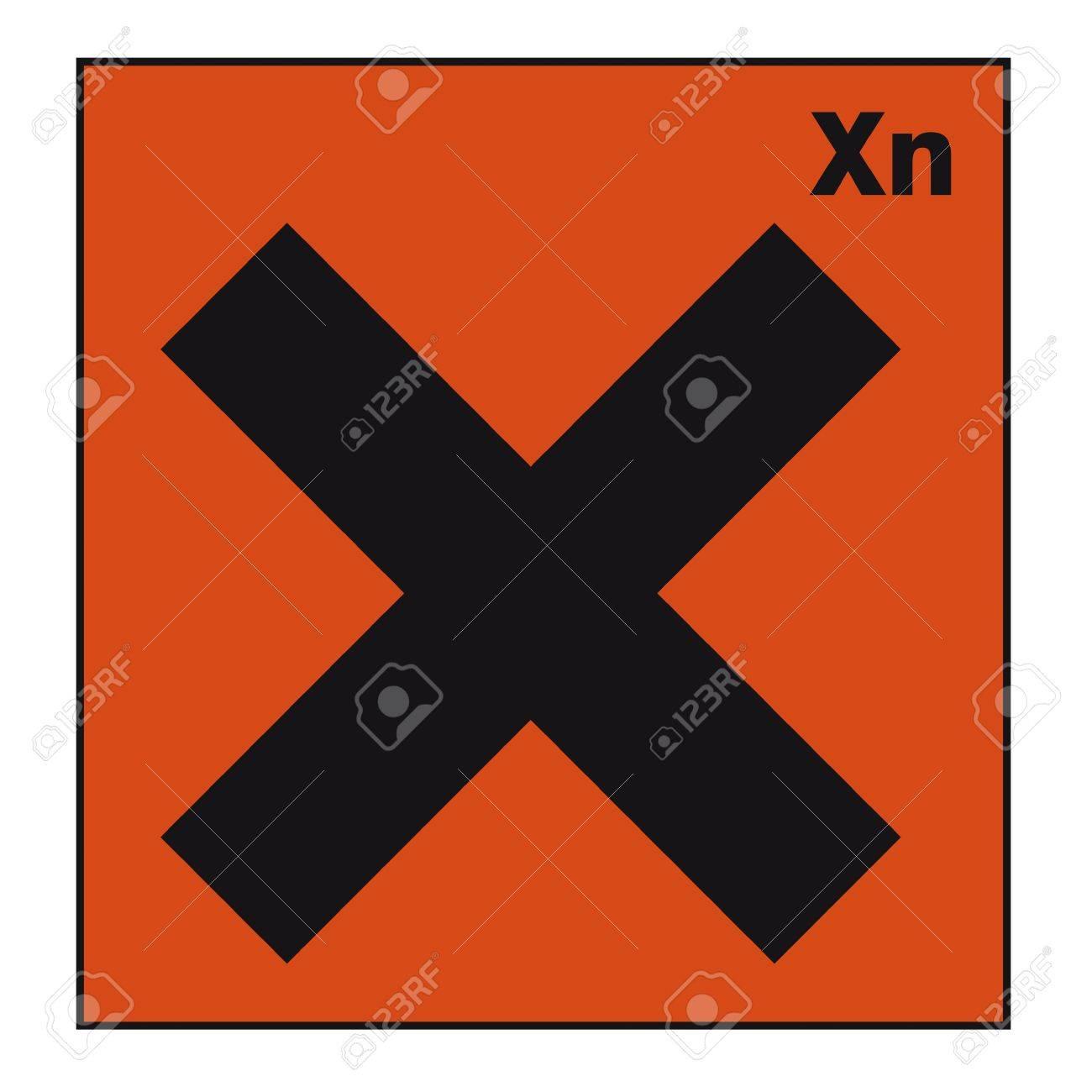 safety sign danger sign hazardous chemical chemistry Cross Stock Vector - 14377082