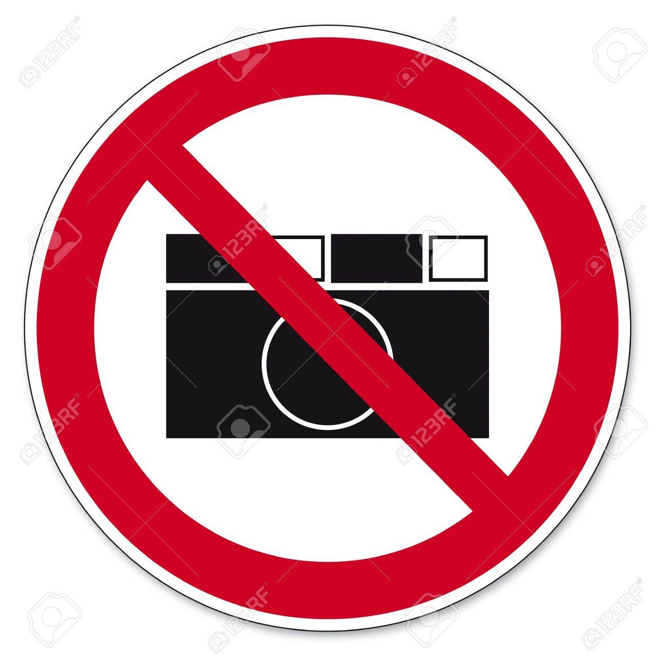 Prohibition signs BGV icon pictogram photographing prohibited paparazzi Stock Vector - 14513099