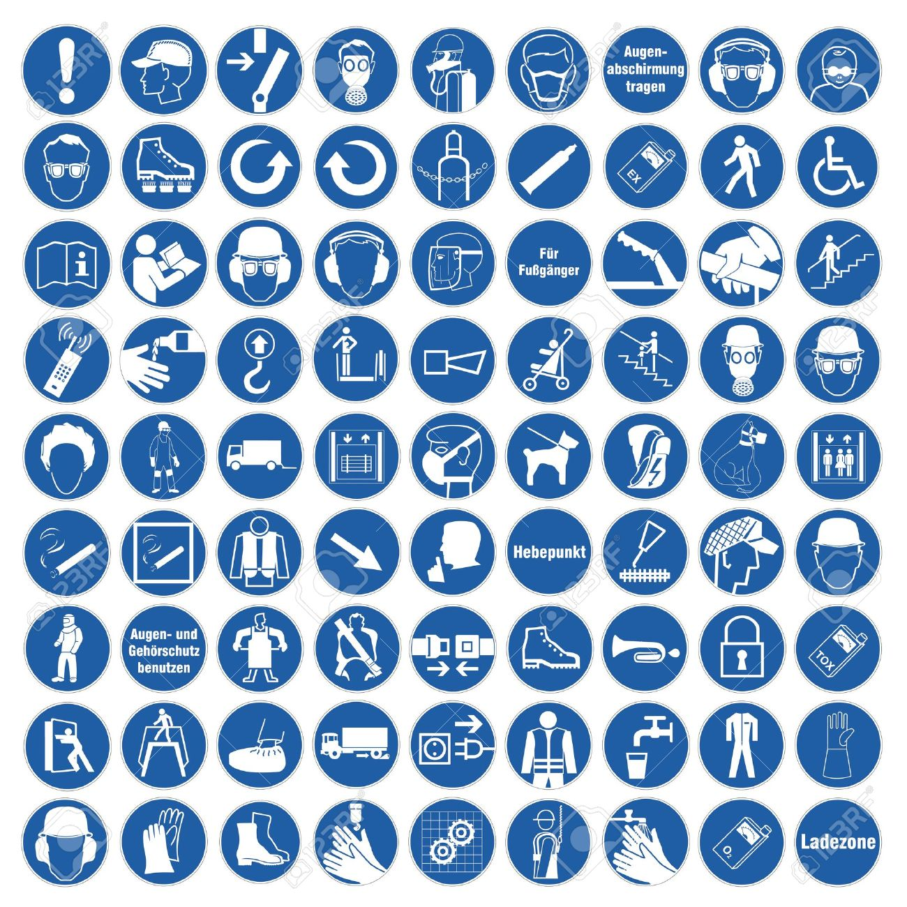 Commanded Sign Safety Sign Pictogram Occupational Safety Sign ...