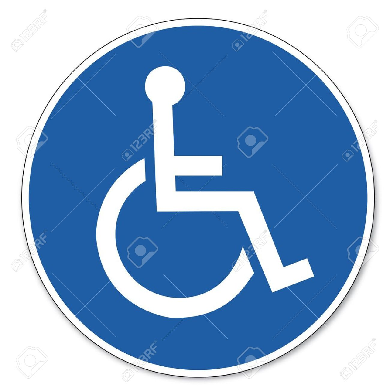 Commanded sign safety sign pictogram occupational safety sign for Wheelchairs users - 14650095