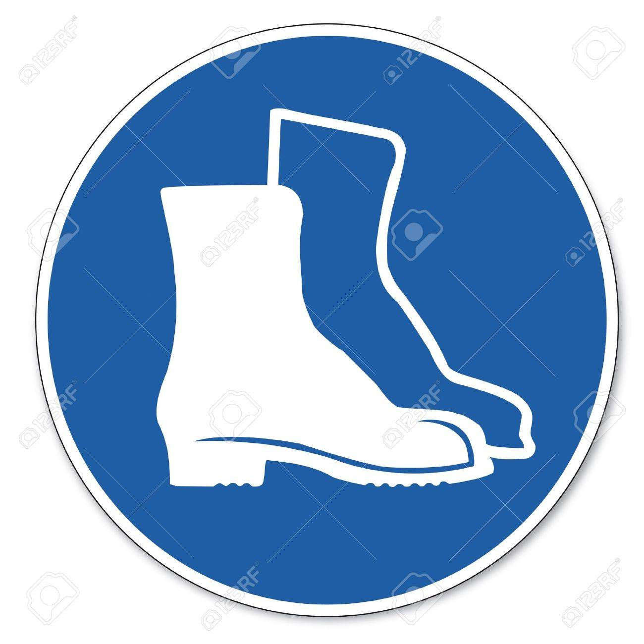 Commanded sign safety sign pictogram occupational safety sign Foot use shoe - 14646068