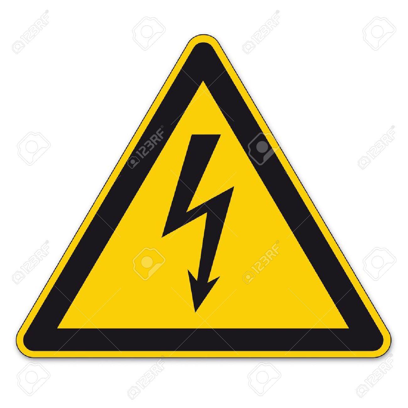Safety Signs Warning Sign BGV Vector Pictogram Icon Lightning ...