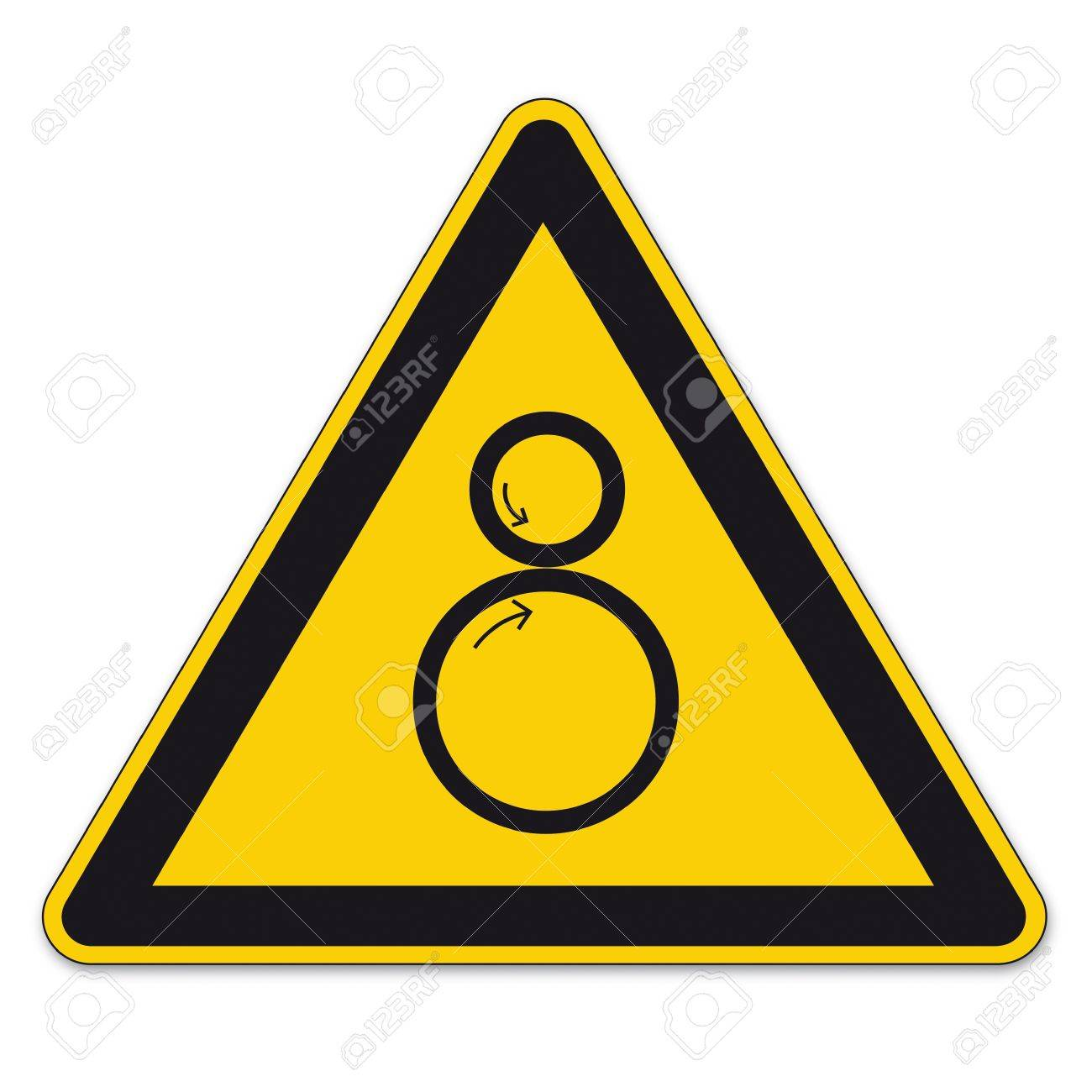 Safety signs warning triangle roll BGV A8 sign vector pictogram icon collection risk Stock Vector - 15313175