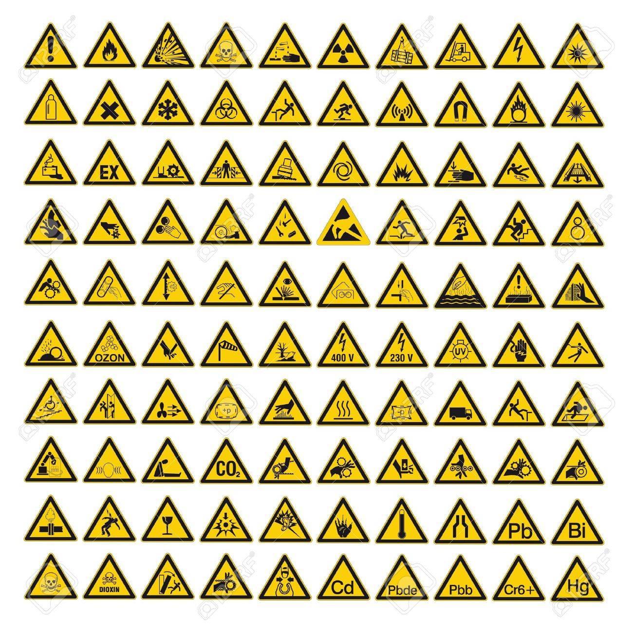 Safety Signs Warning Warndreieck BGV A10 Triangle Sign Vector ...