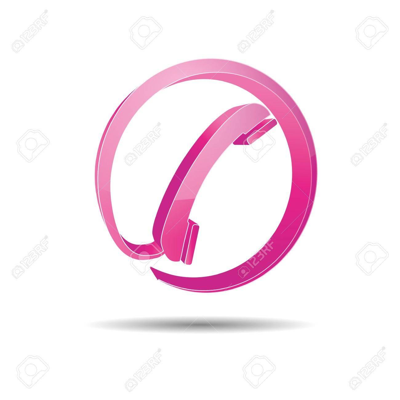 Contact circle phone hotline kontaktfomular callcenter call pictogram sign symbol telephone Stock Vector - 14757906