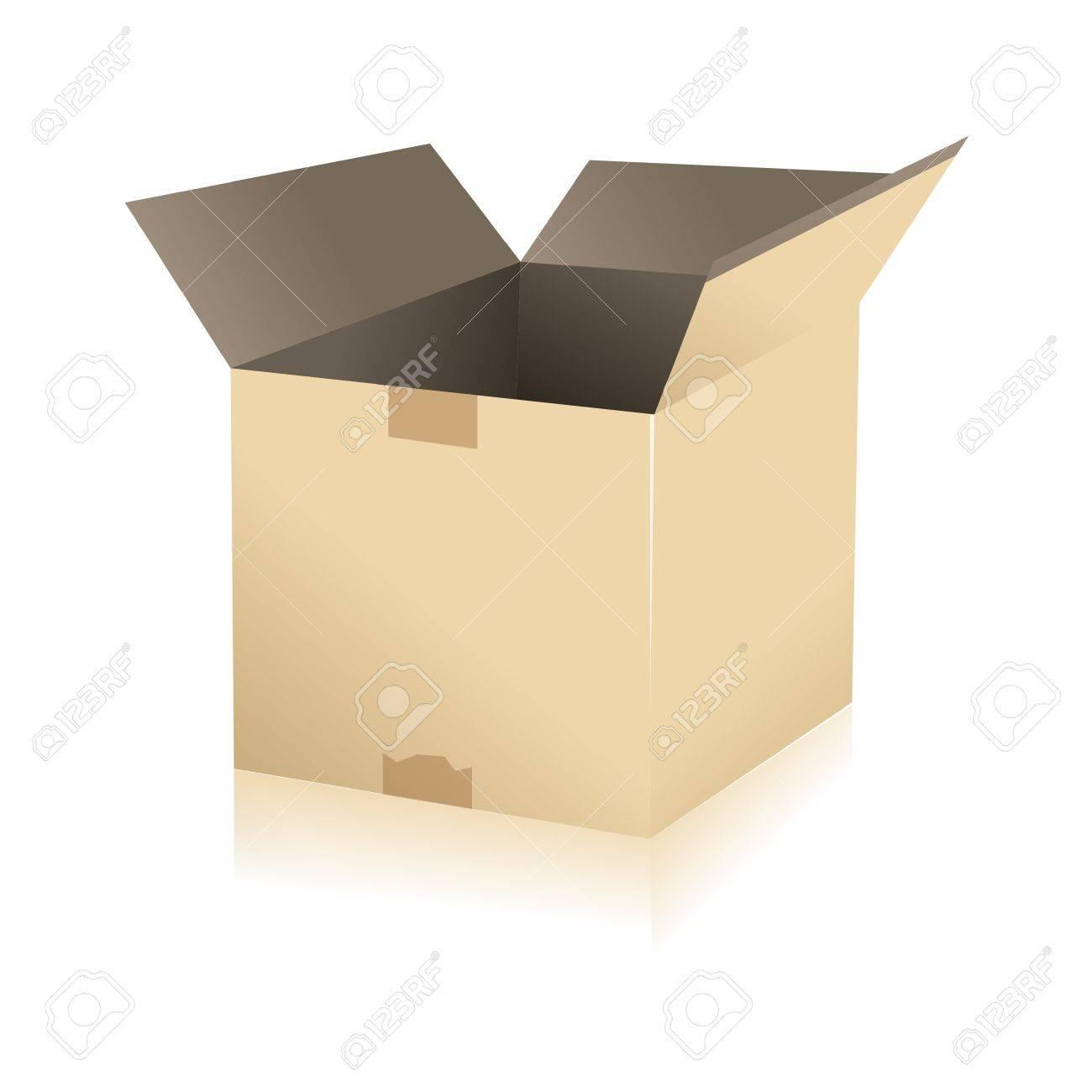 Paquete De Entrega De Paquetes De Transporte Caja De Cartón ...