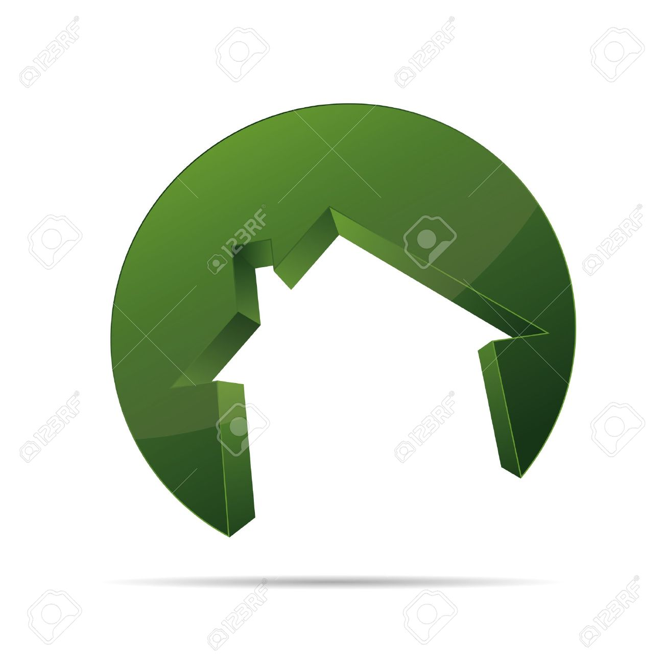 3d building house home architect circular form symbol corporate