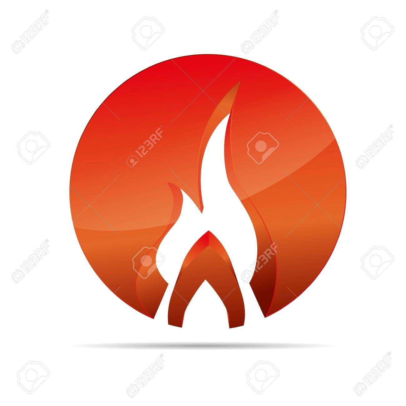 3D abstraction fire flame broil globe circular corporate logo design icon sign business Stock Vector - 15764231