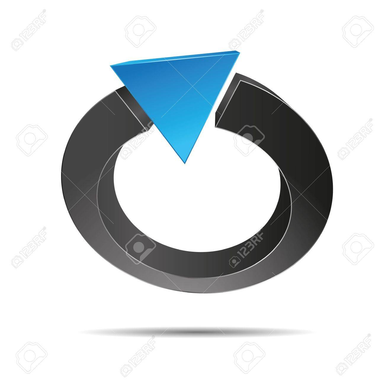 3D abstract ring pearl triangular pyramid jewelry blue ocean water symbol corporate design icon logo trademark Stock Vector - 15574167