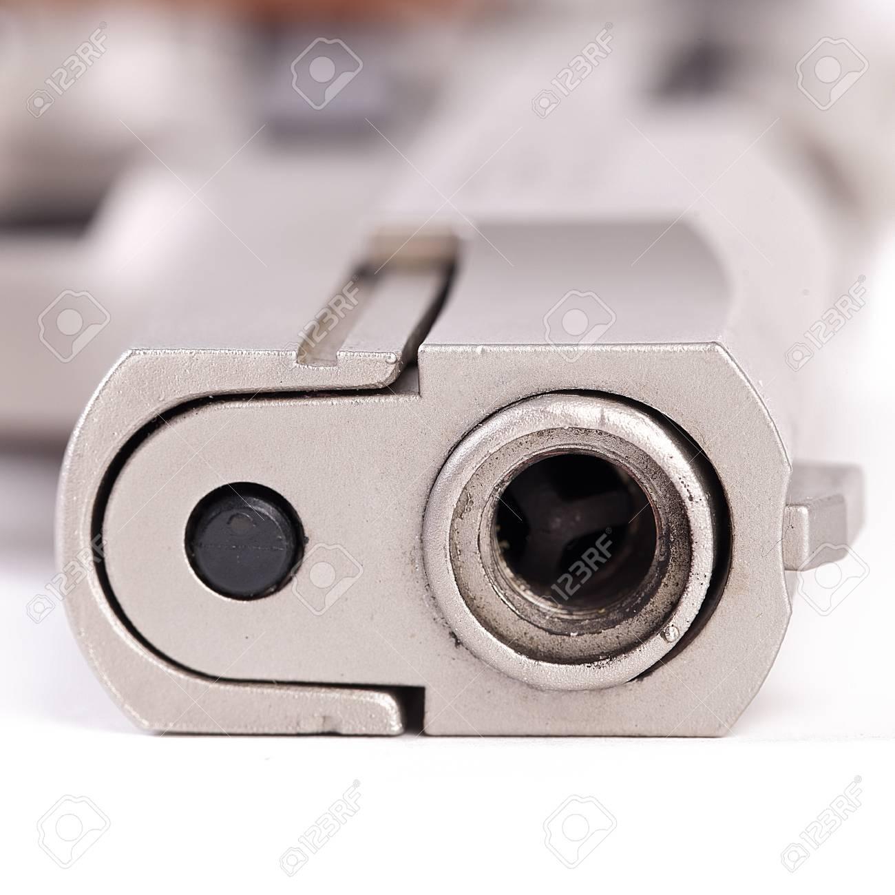 pistol police revolver firearm crime protect sport aggression war rampage terror Stock Photo - 16221344