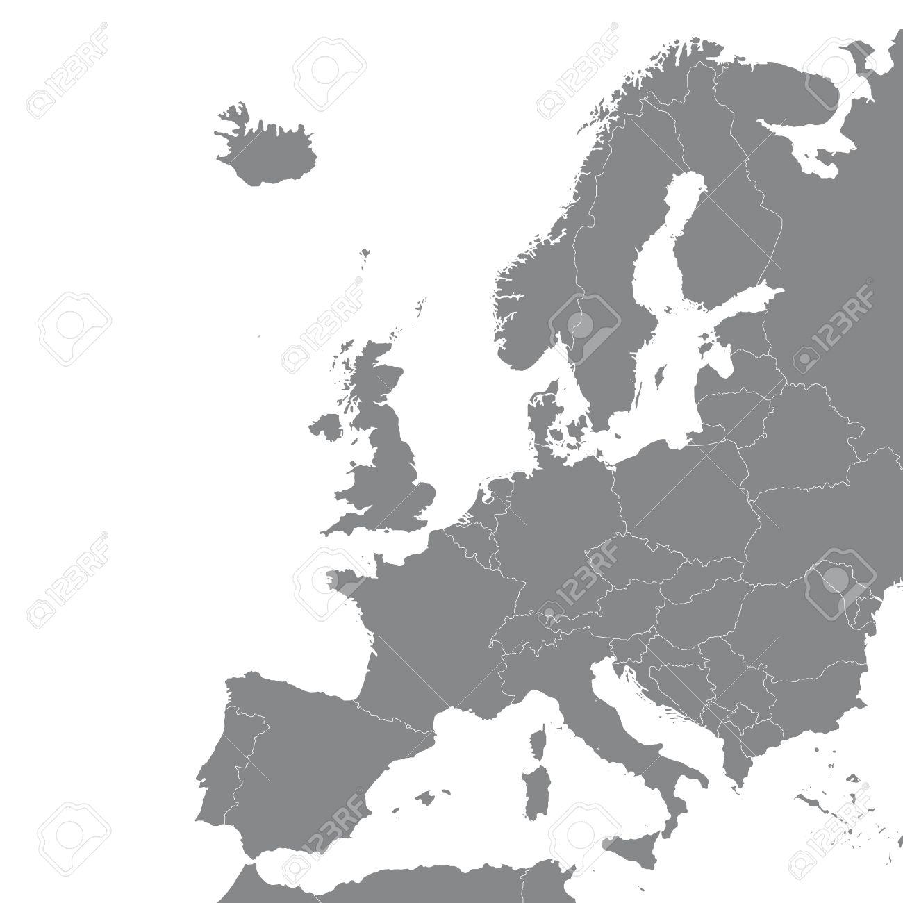 Carte Europe Grise.Europe Accord De Schengen Bruxelles Belgique Euro Geo Carte Carte Silhouette Plan De La Cartographie