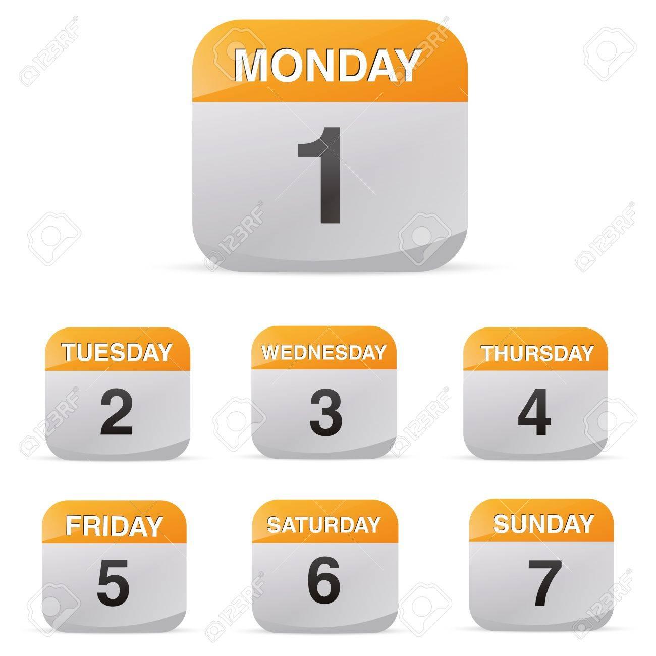 calendar set icon symbol month year calendar sheet kalendarium birthday holiday office diary Stock Vector - 19422254