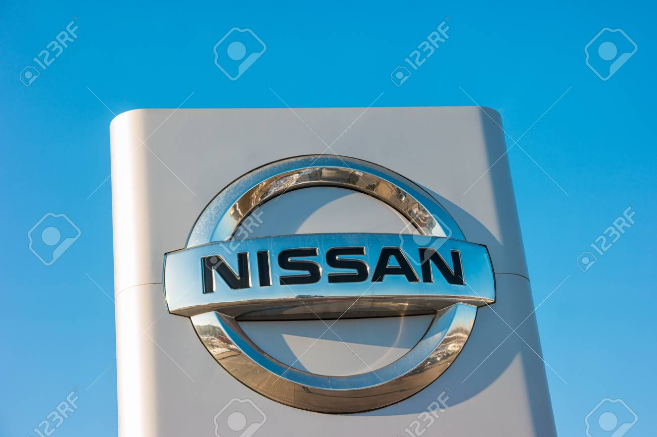 Aachen Germany January 2017 Nissan Automobile Dealership Sign