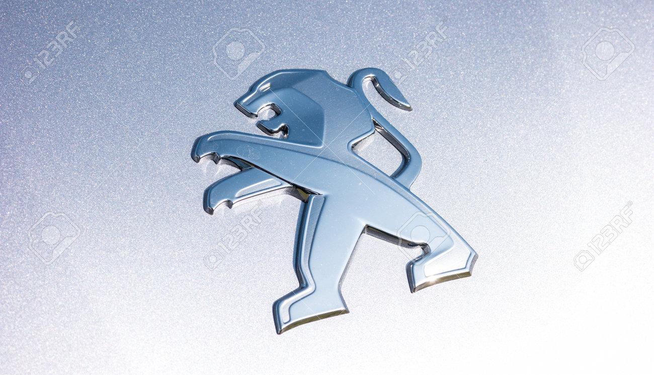 AACHEN, GERMANY MARCH, 2017: Peugeot Logo On A Car. Peugeot Is ...