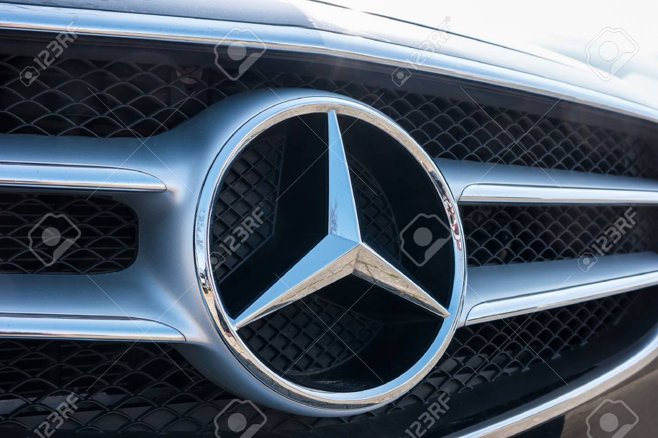 Aachen Germany March 2017 Mercedes Benz Logo Close Up On A Stock Photo Picture And Royalty Free Image Image 73976787
