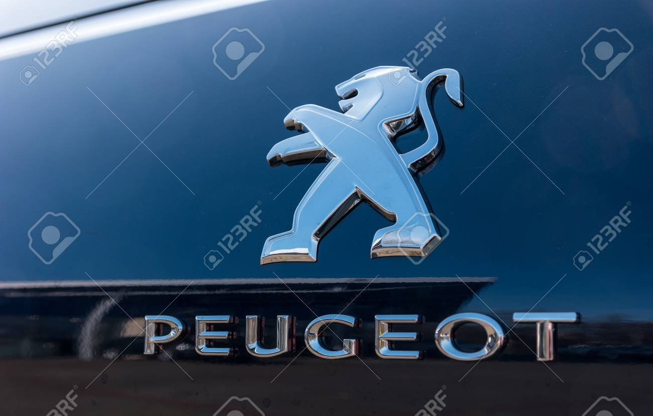 AACHEN, GERMANY MARCH, 2017: Peugeot Logo Sign On A Car. Peugeot ...