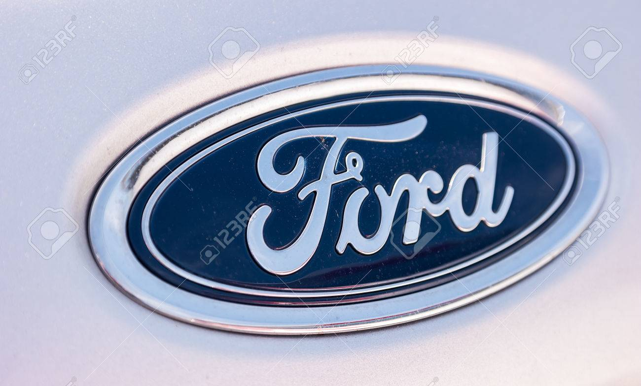 AACHEN, GERMANY MARCH, 2017: Ford Sign Close-Up  The Ford Motor