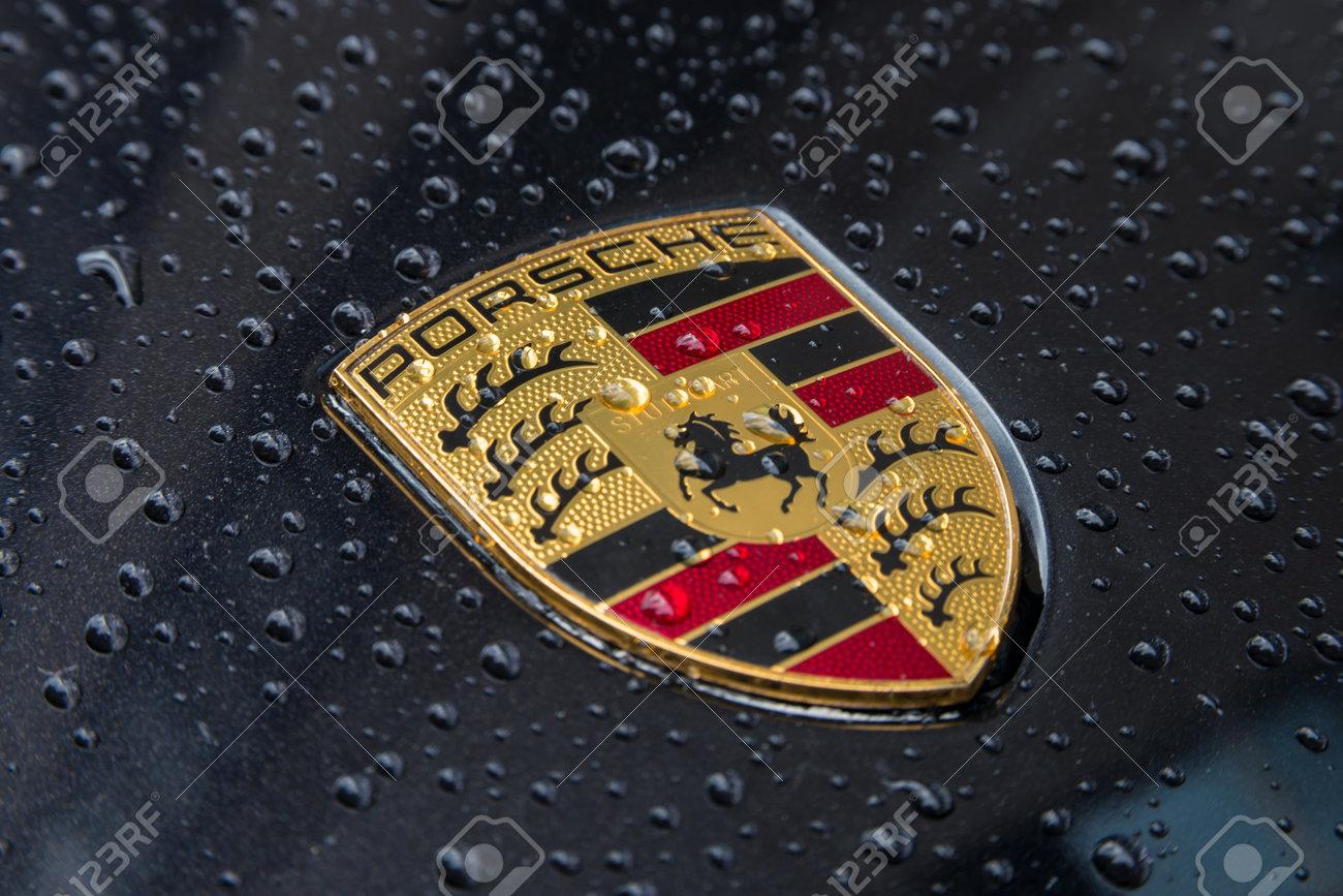 London United Kingdom May 2017 Porsche Logo Close Up On A Stock