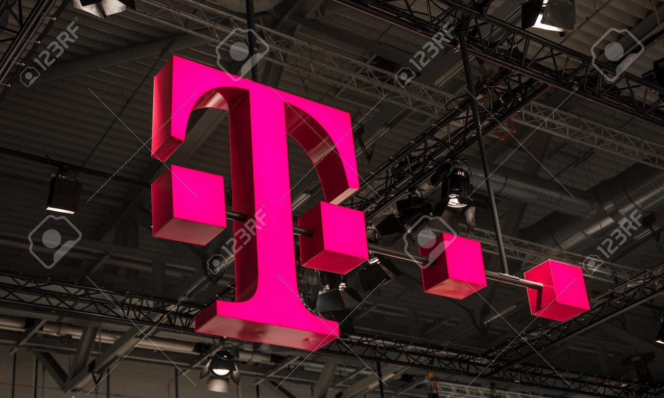 Köln Deutschland September 2017 Logo Der Deutschen Telekom Es