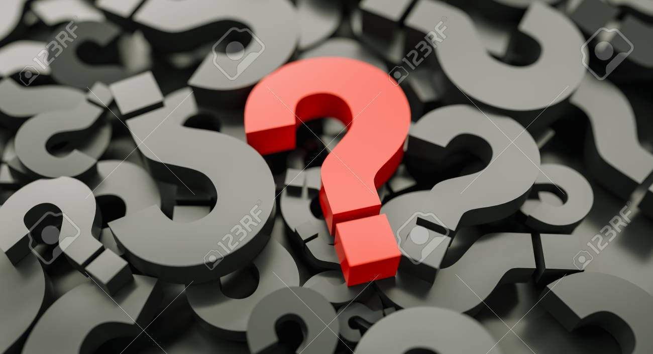 red big question marks background - 116870965
