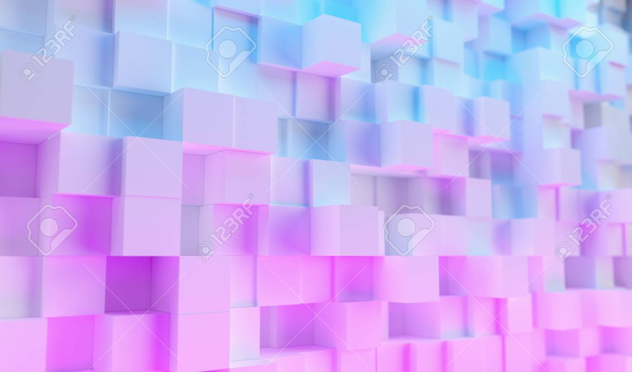 Colorful Bright Neon Uv Blue And Purple Lights Cube Background Stock Photo Picture And Royalty Free Image Image 116857880