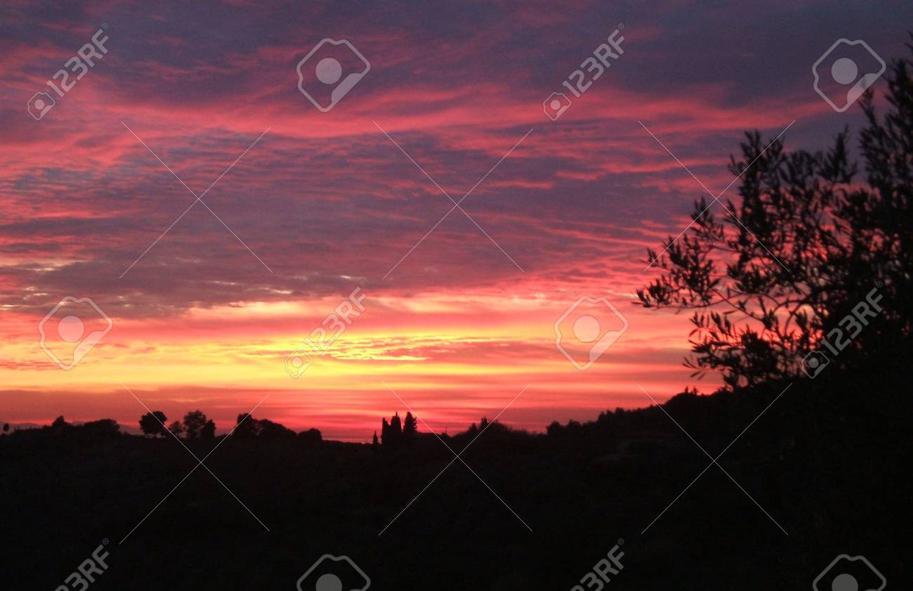 Tuscan Sunset Stock Photo - 3519826