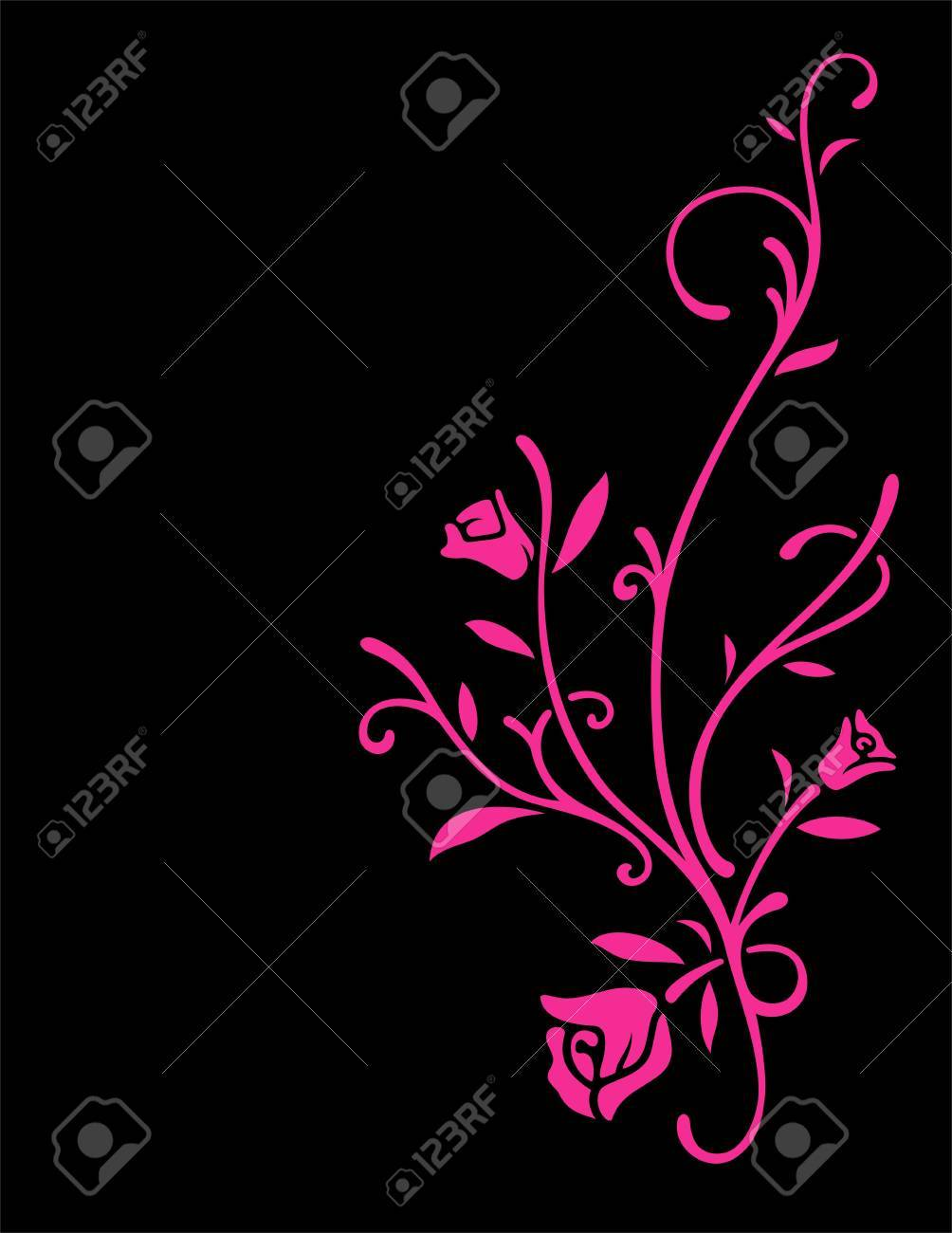 Rose flowers with leafs Stock Vector - 17290551