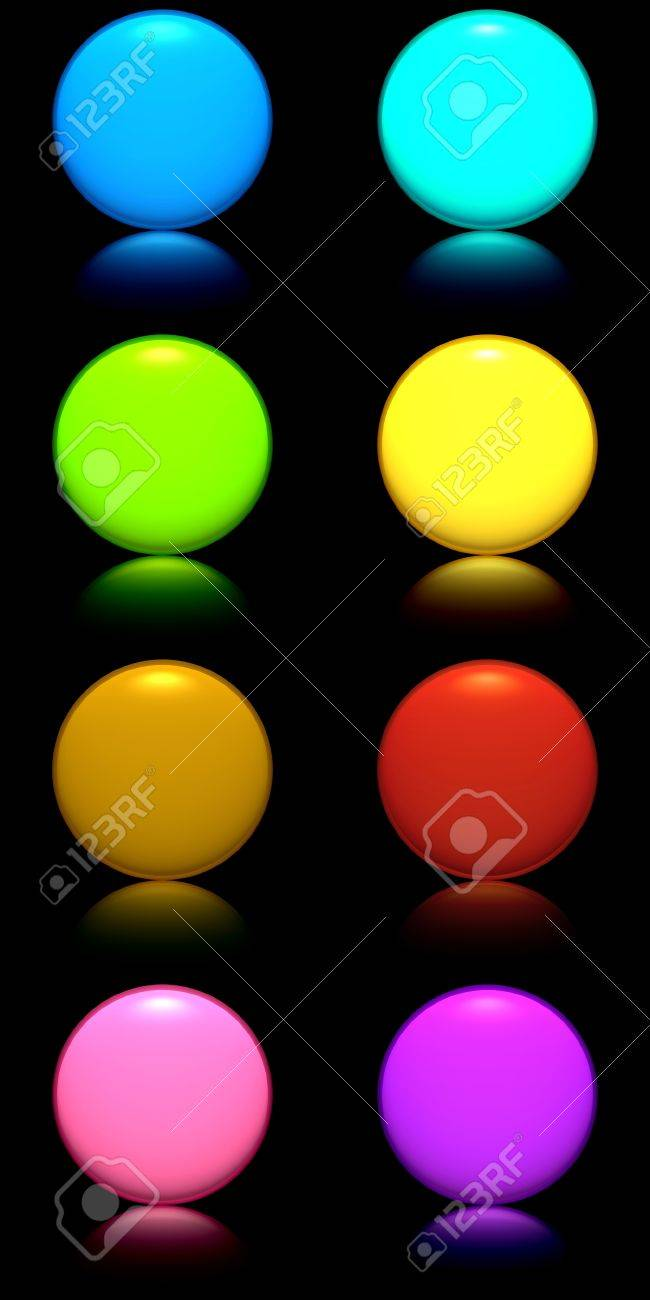 Buttons with reflection Stock Photo - 17290481