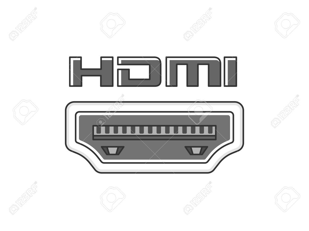 HDMI terminal illustration - 163697115