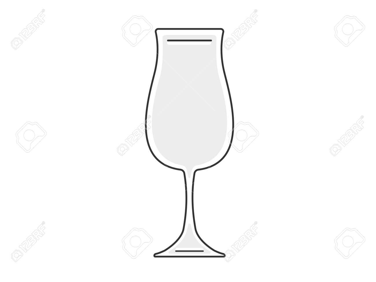 Cocktail glass illustration - 166492375