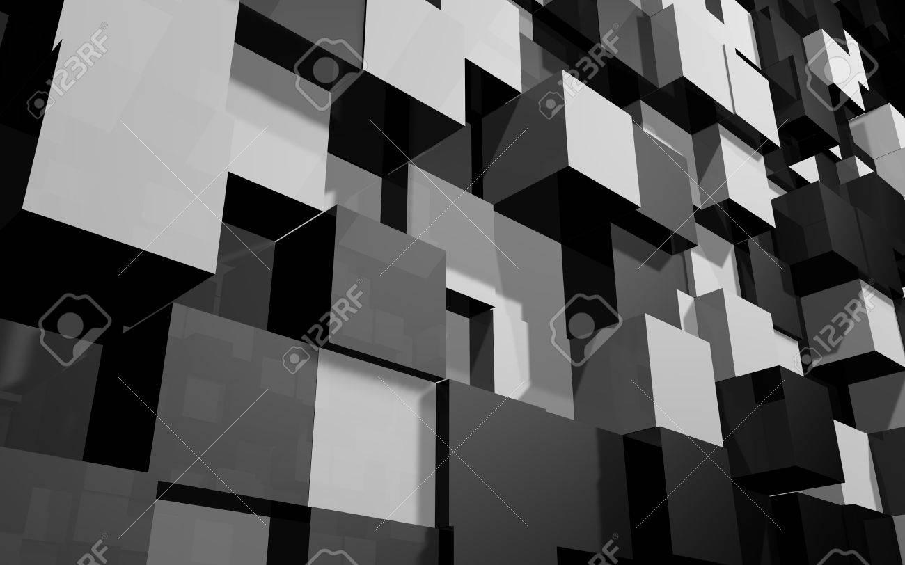 Abstrait beau fond créatif de noir et gris allongé et cabossé de