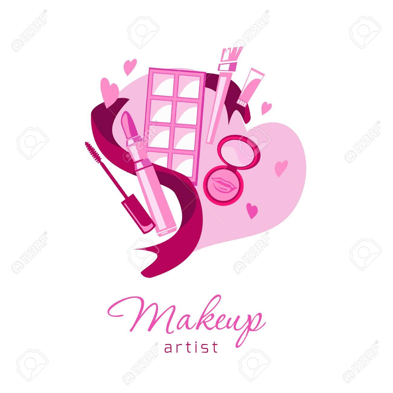 Fond De Cosmetiques Et Mode Pour Carte Visite Salon Beaute