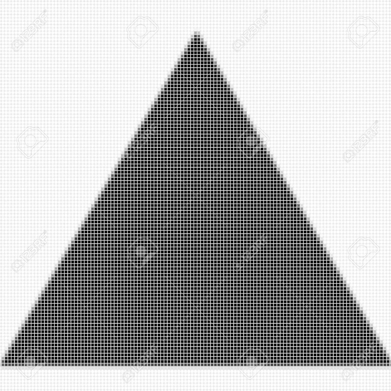Triángulo. El Patrón Geométrica Simple De Cuadrados De Color Negro ...