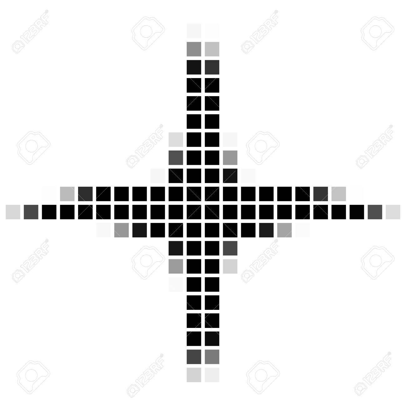 De Cuatro Estrellas Y Caras. El Patrón Geométrica Simple De ...