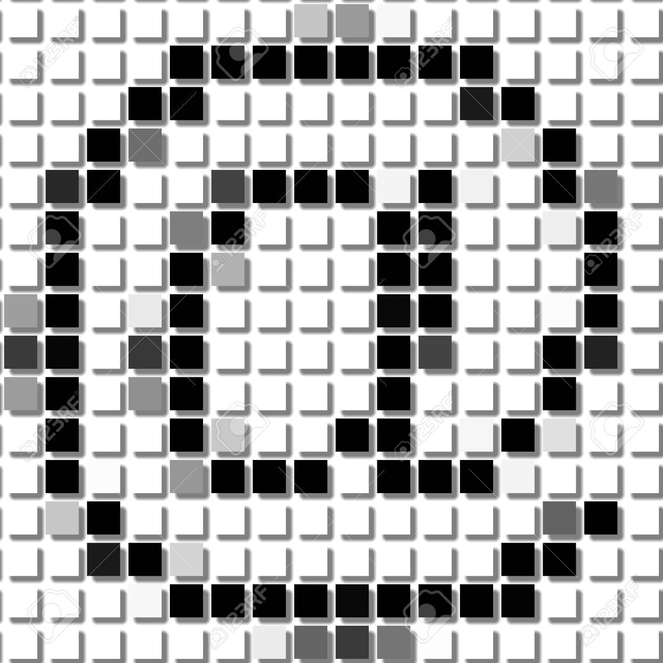 El Al. @ El Patrón Geométrica Simple De Cuadrados De Color Negro En ...